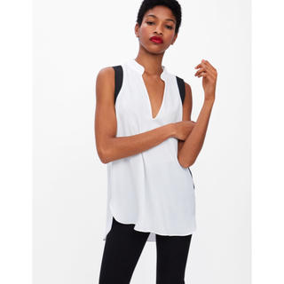 ルシェルブルー(LE CIEL BLEU)のZARA バイカラーノースリーブシャツ (シャツ/ブラウス(半袖/袖なし))