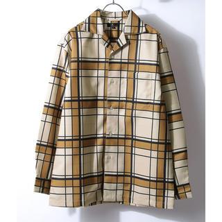 レイジブルー(RAGEBLUE)のZIP FIVE<新品>オープンカラーシャツ 長袖 柄シャツ チェック レトロ(シャツ)