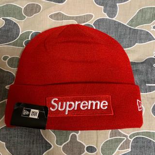 シュプリーム(Supreme)のSUPREME NEW ERA ニット帽 新品未使用 red 赤(ニット帽/ビーニー)
