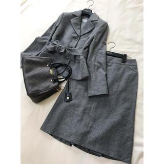 マックスマーラ(Max Mara)の美品 マックスマーラ  セットアップ グレー スカート  ジャケット入学 スーツ(スーツ)