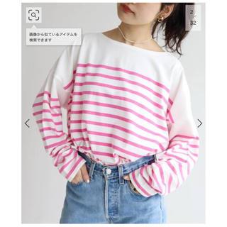 イエナスローブ(IENA SLOBE)のSLOBE IENA citron カラーパネルボーダーTシャツ(Tシャツ(長袖/七分))