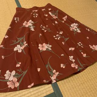 リランドチュール(Rirandture)のリランドチュール 1 スカート 花柄 ボルドー(ひざ丈スカート)
