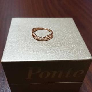 ポンテヴェキオ(PonteVecchio)のポンテヴェキオ K10 0.02 5粒ダイヤリング 7号(リング(指輪))