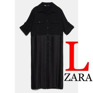 ZARA - 73 ZARA ザラ 新品 プリーツロングシャツ L