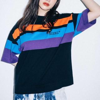 エックスガール(X-girl)の数回のみ ストライプ トップス(Tシャツ(半袖/袖なし))