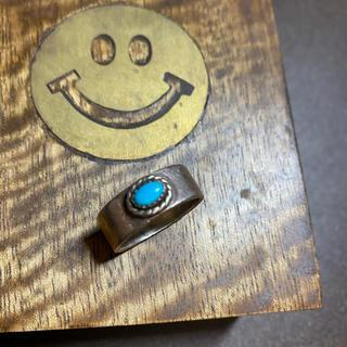 平打ち 銀縄ターコイズリング 15号(リング(指輪))