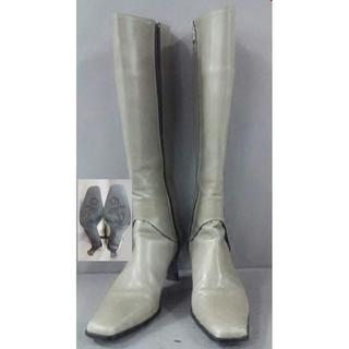 ギンザカネマツ(GINZA Kanematsu)の美品!ギンザカネマツ GINZA Kanematsu ロングブーツ レザー 靴(ブーツ)