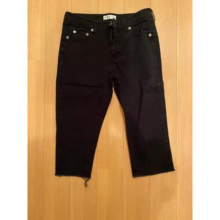 ニッセン(ニッセン)の黒 パンツ ズボン 7分丈(カジュアルパンツ)