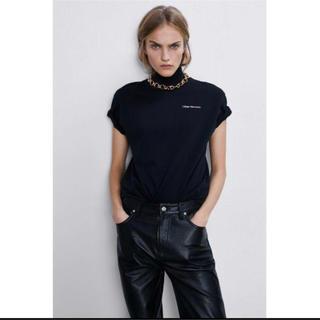 ZARA - ZARA ザラ ハイネックTシャツ カットソー ブラック Mサイズ
