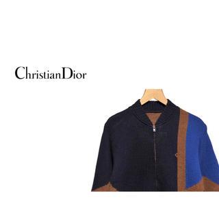 クリスチャンディオール(Christian Dior)のVintage Christian Dior ジオメトリック ニット ジャケット(カーディガン)