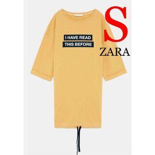ZARA - 78 新品 ZARA ザラ フロントロゴ ワンピース S