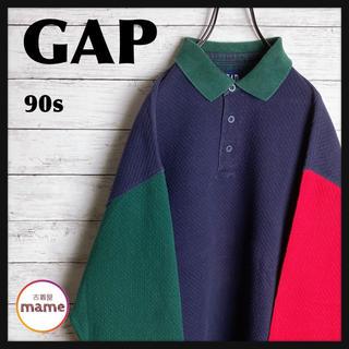 GAP - 【オススメ‼︎】OLD GAP◎90s クレイジー 襟付き スウェット