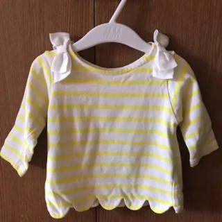 プティマイン(petit main)のプティマイン  ボーダー リボン ロンT 80(Tシャツ)