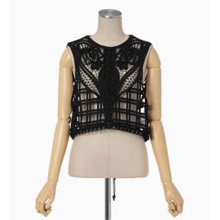 mame - mame kurogouchi Cording Embroidery Vest