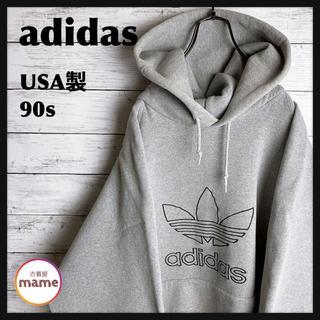 adidas - 【オススメ‼︎】【USA製】90s adidas◎トレフォイルロゴ刺繍 パーカー
