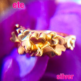 ete - ⑥エテ silver ハートいっぱい  3Dリング✨約 9号