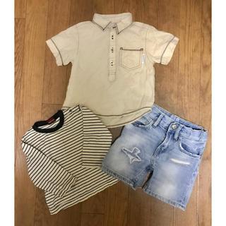 エイチアンドエム(H&M)の赤ちゃん本舗 H&M ロンT ポロシャツ パンツ 80 90 3点(Tシャツ)