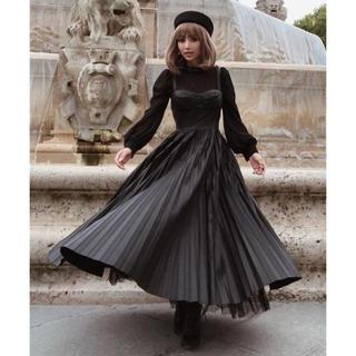 eimy istoire - 完売ブラック!【Feminity】 leather preated dress