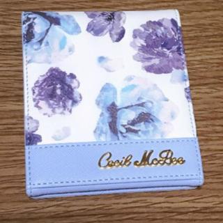 CECIL McBEE - セシルマクビー 花柄 鏡 ブルー