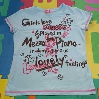 メゾピアノ(mezzo piano)のメゾピアノ  mezzo piano  Tシャツ(Tシャツ/カットソー)
