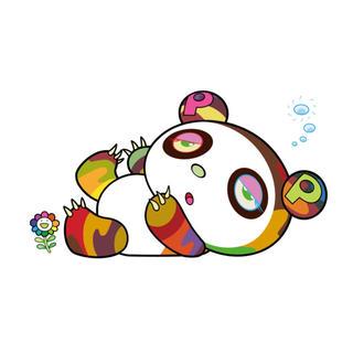 村上隆「パンダちゃん、眠い眠い。」シルクスクリーン限定100枚 サイン付(版画)