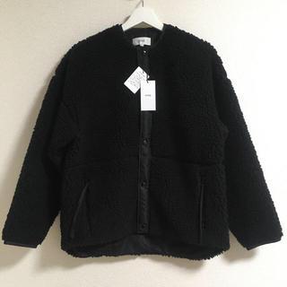 HYKE - 新品タグ付き★20AW  HYKE ショートボアジャケット  ブラック 1