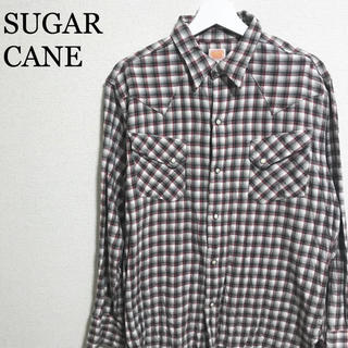 シュガーケーン(Sugar Cane)の★美品★シュガーケーン チェックシャツ メンズL 長袖シャツ(シャツ)