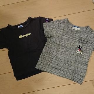 ライトオン(Right-on)のライトオン☆Champion☆ミッキー☆半袖Tシャツ☆100cm(Tシャツ/カットソー)