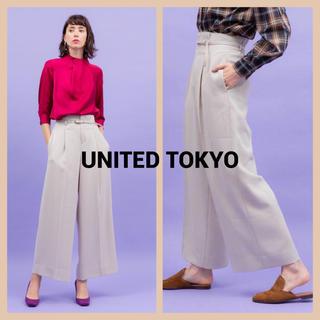 STUDIOUS - UNITED TOKYO ワンタックワイドパンツ