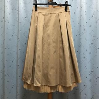 ダズリン(dazzlin)のほぼ新品 Dazzlin(ダズリン) 厚手スカート ベージュ サイズフリー(ロングスカート)