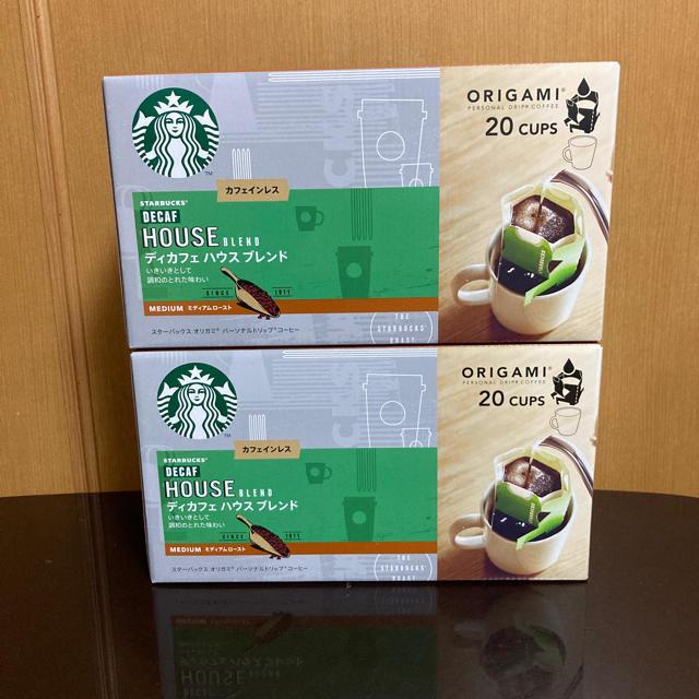 Starbucks Coffee(スターバックスコーヒー)のスターバックス スタバ ディカフェ ハウス ブレンド コーヒー オリガミ 食品/飲料/酒の飲料(コーヒー)の商品写真