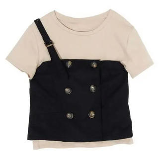 eimy istoire - eimy istoire  ビスチェセットTシャツ ブラック
