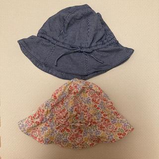 ユニクロ(UNIQLO)のUNIQLO ベビーハット 帽子 2点セット(帽子)