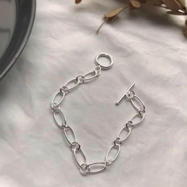 BEAUTY&YOUTH UNITED ARROWS(ビューティアンドユースユナイテッドアローズ)の【BL-1】sv925 chain bracelet レディースのアクセサリー(ブレスレット/バングル)の商品写真
