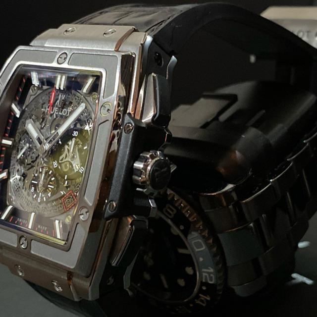 HUBLOT(ウブロ)のHUBLOT ウブロ スピリット オブ ビッグバン チタニウム 601.NX. メンズの時計(腕時計(アナログ))の商品写真