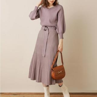 natural couture - 最終価格♪【natural couture】ニット ワンピース プリーツ