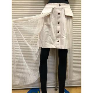セシルマクビー(CECIL McBEE)のセシルマクビー美良品 チュールレース重ねスカート  2点以上まとめ買い値下げ!(ロングスカート)