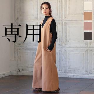 神戸レタス - ツイル起毛Vネックオールインワン