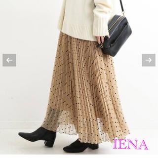 IENA - 2019年AW☆IENA フロッキーDOTプリーツスカート