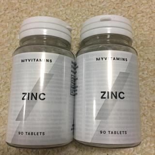 マイプロテイン(MYPROTEIN)のマイプロテイン 亜鉛ZINC 90錠×2点(トレーニング用品)