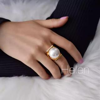DEUXIEME CLASSE - big pearl ring