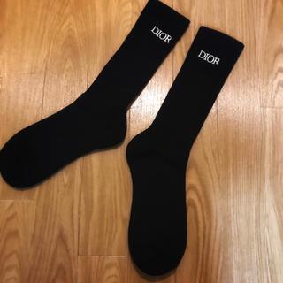 ディオール(Dior)のDIOR 靴下 黒 ストレッチコットンニット ソックス ディオール(ソックス)