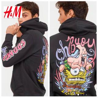 H&M - 新品 H&M × スポンジボブ コラボ パーカー XLサイズ