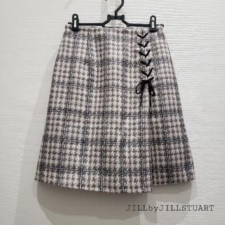 ジルバイジルスチュアート(JILL by JILLSTUART)のJILLbyJILLSTUART チェックスカート(ひざ丈スカート)