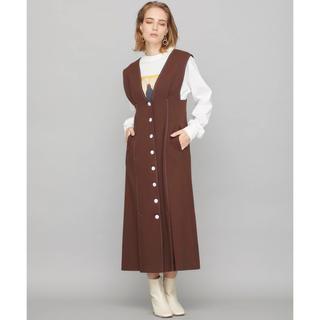 LE CIEL BLEU - ステッチロングジャンパースカート
