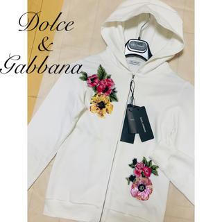 DOLCE&GABBANA - タグ付き未使用 DOLCE&GABBANA スパンコール刺繍パーカー