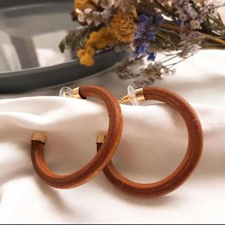 アズールバイマウジー(AZUL by moussy)のSALE!【WP-4B】frame wood hoop pirce(ピアス)