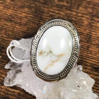 ホワイトバッファロー  silver925 リング 15号(リング(指輪))