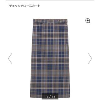 GU - GU チェックナロースカート