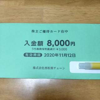 西松屋 株主優待券8,000円分